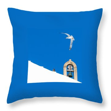 Blue Gull Throw Pillow by Edgar Laureano