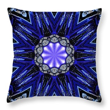 Blue Haven Throw Pillow by Victor Montgomery