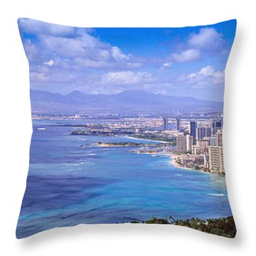 Blue Hawaii Throw Pillow by Les Palenik