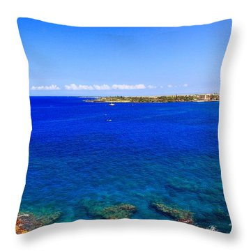 Blue Hawaiii Throw Pillow