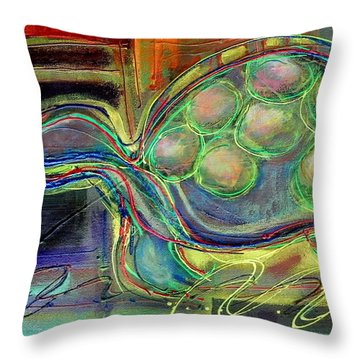 Blue Hawain Turtle Throw Pillow