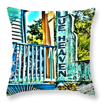 Blue Heaven In Key West - 1 Throw Pillow