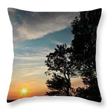 Blue Heaven Sunset Throw Pillow