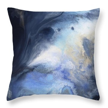 Blue Heavens Throw Pillow by Jamie Frier