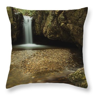 Blue Hole Throw Pillow