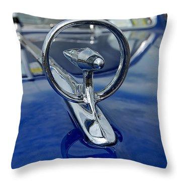 Blue Hood Throw Pillow
