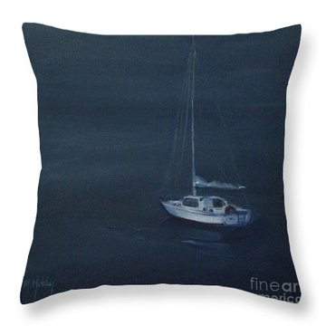 Blue Horizon Throw Pillow by Mary Hubley