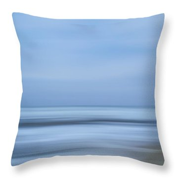 Blue Hour Beach Abstract Throw Pillow