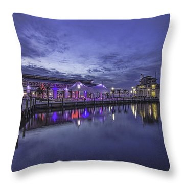 Blue Hour Dawn Throw Pillow