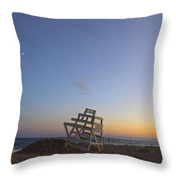 Blue Hour In The Hamptons Throw Pillow