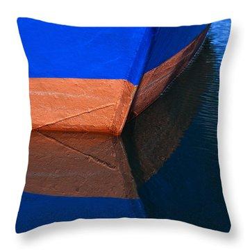 Blue Hull Throw Pillow