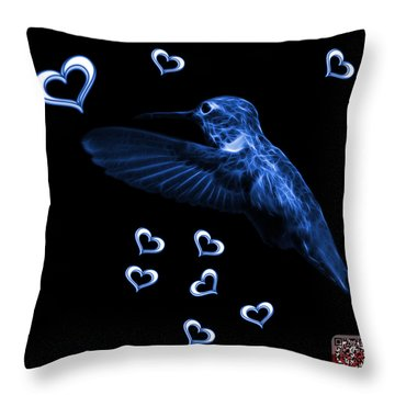 Blue Hummingbird - 2055 F M Throw Pillow
