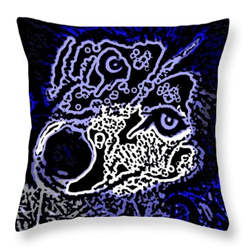 Blue Husky Throw Pillow