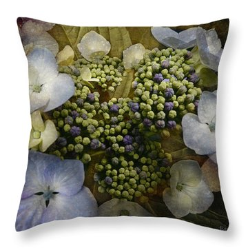 Throw Pillow featuring the photograph Blue Hydrangea by Barbara Orenya