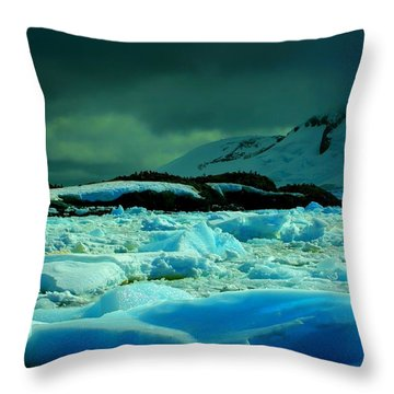 Throw Pillow featuring the photograph Blue Ice Flow by Amanda Stadther