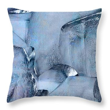 Blue Ice Throw Pillow by Jack Zulli