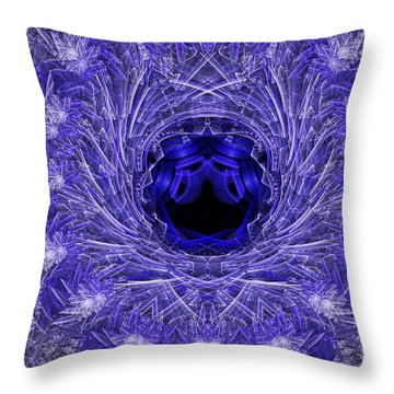 Throw Pillow featuring the digital art Blue Ice by Melissa Messick