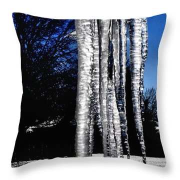 Throw Pillow featuring the photograph Blue Ice by Luther Fine Art