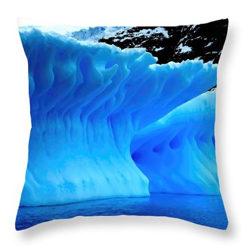 Throw Pillow featuring the photograph Blue Iceberg by Amanda Stadther