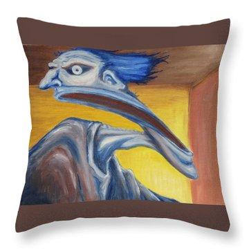 Blue - Internal Throw Pillow by Jeffrey Oleniacz