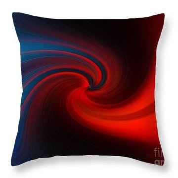 Throw Pillow featuring the digital art Blue Into Orange by Trena Mara