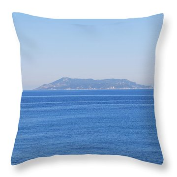 Throw Pillow featuring the photograph Blue Ionian Sea by George Katechis