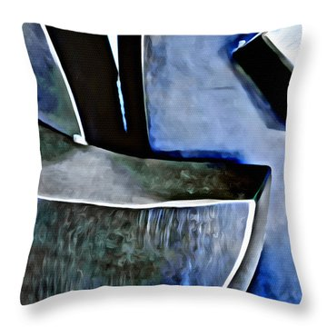Blue Iron Throw Pillow by Joan Reese