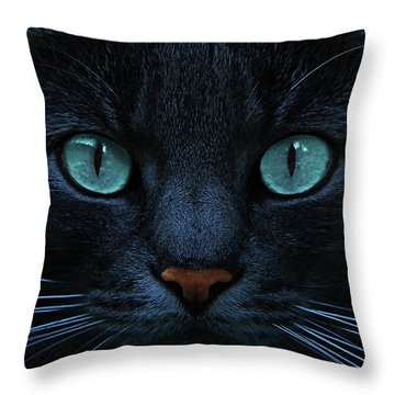Blue Is The Night Throw Pillow by Joachim G Pinkawa