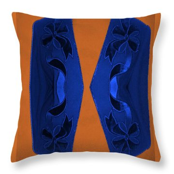 Blue Jacket Throw Pillow
