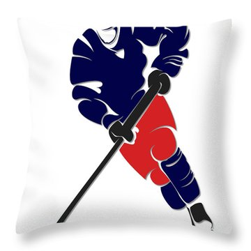 Blue Jackets Shadow Player Throw Pillow