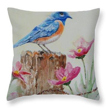 Blue Jewel Throw Pillow