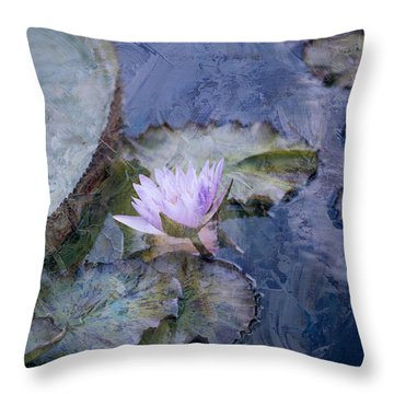 Throw Pillow featuring the photograph Blue by John Rivera