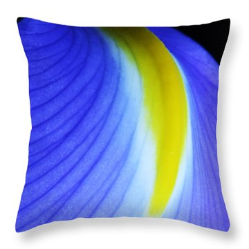 Throw Pillow featuring the photograph Blue by Judy Whitton