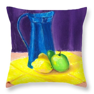 Blue Jug Throw Pillow