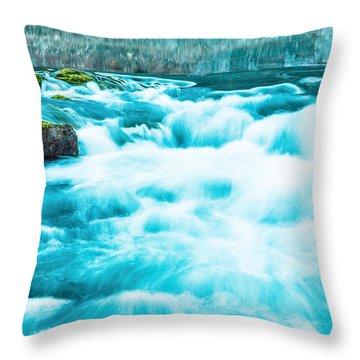 Throw Pillow featuring the photograph Blue Lagoon by Steven Bateson