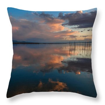 Blue Lagoon. Valencia Throw Pillow