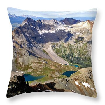 Blue Lakes Beauty Throw Pillow