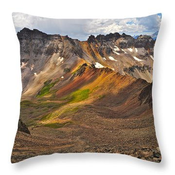 Blue Lakes Pass Throw Pillow