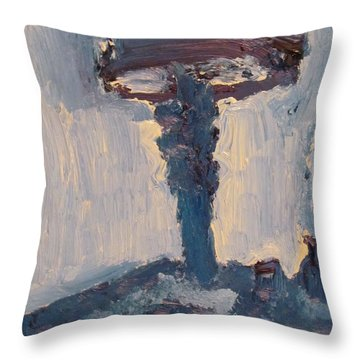 Blue Lamp Throw Pillow