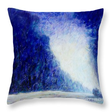 Blue Landscape - Abstract Throw Pillow