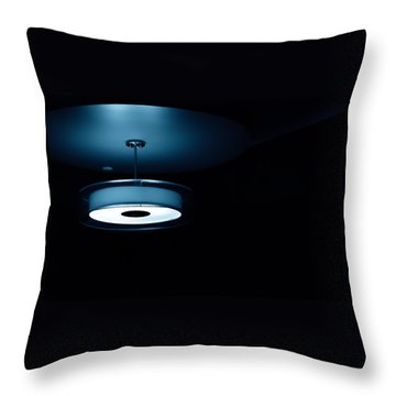 Blue Light Throw Pillow by Darryl Dalton