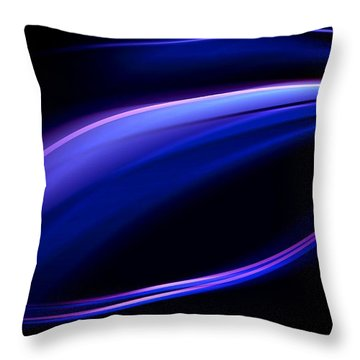 Blue Purple Light Throw Pillow