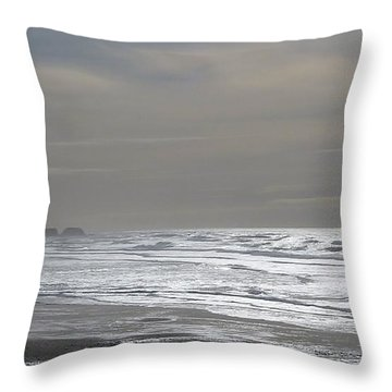Throw Pillow featuring the photograph Blue Lighthouse View by Susan Garren