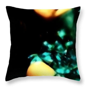 Throw Pillow featuring the photograph Blue Lights by Jessica Shelton