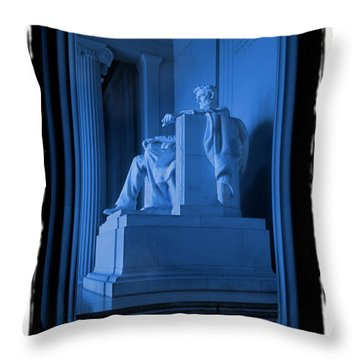 Blue Lincoln Throw Pillow