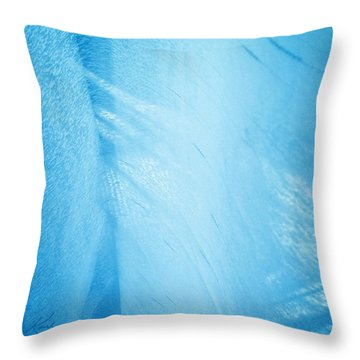 Blue Linen Sunshine Throw Pillow
