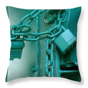 Throw Pillow featuring the photograph Blue Locks by Rodney Lee Williams