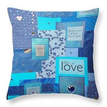 Blue Love Throw Pillow