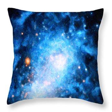 Blue Magellan Throw Pillow