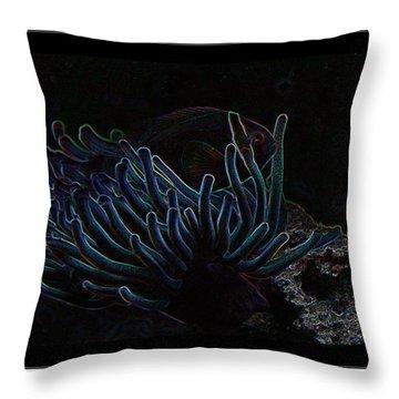 Blue Magic Light Fish  Throw Pillow